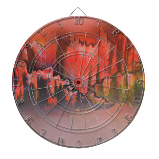 Misty Red Mountains Dartboard