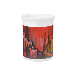 Misty Red Mountains Pitcher