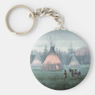 MISTY TIPI CAMP by SHARON SHARPE Key Ring