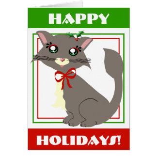 Misty Toon Kitty Holiday! Card