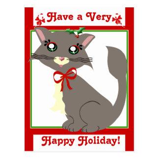 Misty Toon Kitty Holiday! Postcard