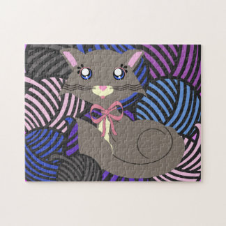 Misty Toon Kitty Yarns! Puzzle