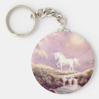 MISTY UNICORN by SHARON SHARPE Basic Round Button Key Ring