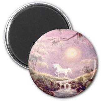 MISTY UNICORN by SHARON SHARPE 6 Cm Round Magnet