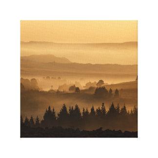 Misty Valley Canvas Art
