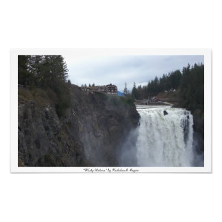 """""""Misty Waters"""" Snoqualmie Photographic Print"""