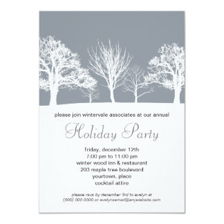 Misty Winter Wood Corporate Holiday Party Card