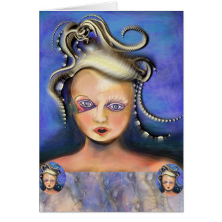 Misunderstood Medusa card by Anjo Lafin