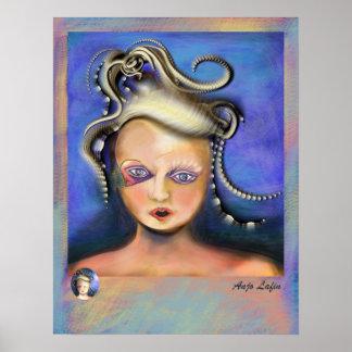 Misunderstood Medusa print by Anjo Lafin.