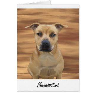 Misunderstood Pit Bull Terrier Inmate Greeting Card
