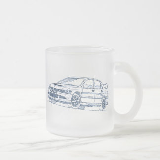 Mit Lancer Evo 8 VIII 2004 sketch Frosted Glass Coffee Mug