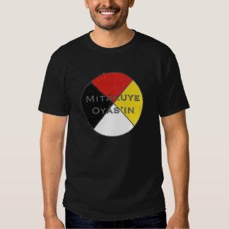 Mitakuye Oyasin Men's Dark Colors Lakota Tshirt
