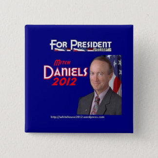Mitch Daniels for President 15 Cm Square Badge