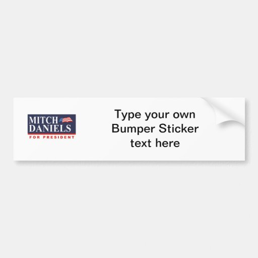 MITCH DANIELS FOR PRESIDENT (Banner) Bumper Stickers