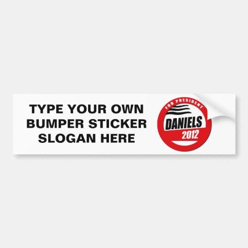 MITCH DANIELS FOR PRESIDENT BUTTON BUMPER STICKER