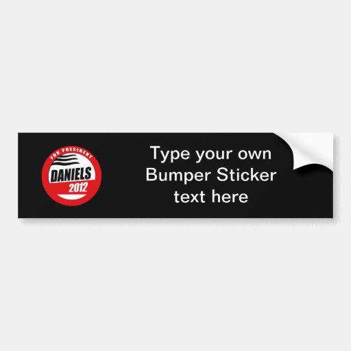MITCH DANIELS FOR PRESIDENT BUTTON BUMPER STICKERS