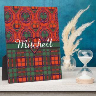 Mitchell clan Plaid Scottish kilt tartan Plaque