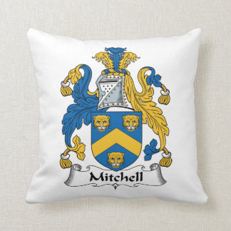 Mitchell Family Crest Throw Pillow