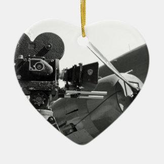 Mitchell movie camera DC-3 Christmas Ornament