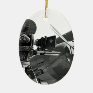 Mitchell movie camera DC-3 Christmas Ornament