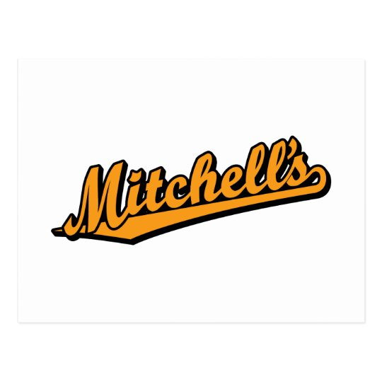 Mitchell's in Orange Postcard