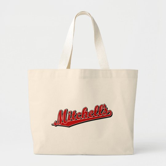 Mitchell's in Red Large Tote Bag