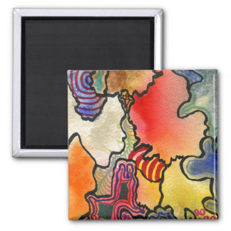 """Mite and Tite"" Abstract Art Magnet"