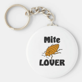 Mite Lover Basic Round Button Key Ring