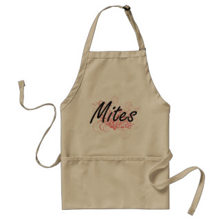Mites with flowers background standard apron