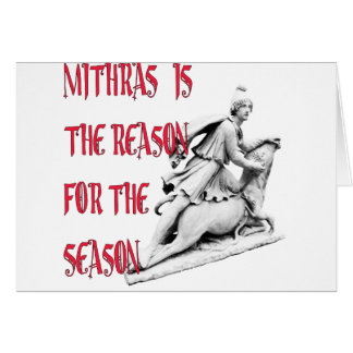 Mithras is the Reason for the Season Card