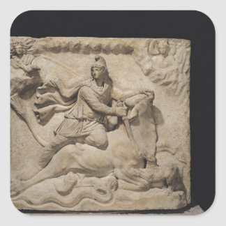 Mithras Sacrificing the Bull, 2nd-3rd century Square Stickers