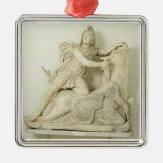 Mithras Sacrificing the Bull, Marble relief, Roman Christmas Ornament