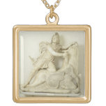 Mithras Sacrificing the Bull, Marble relief, Roman Custom Jewelry