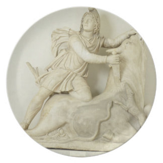 Mithras Sacrificing the Bull, Marble relief, Roman Party Plate