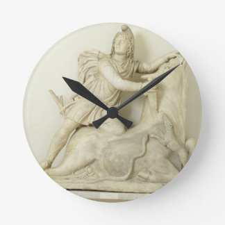 Mithras Sacrificing the Bull, Marble relief, Roman Round Clock