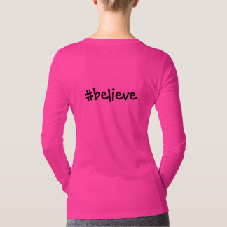 Mito Awareness Hope Faith Cure (neon pink) T-Shirt