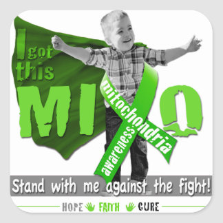 Mito Awareness Stand With Me Square Sticker