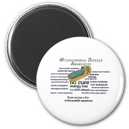 mito awarness facts 6 cm round magnet