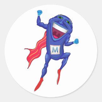Mitochondria Man Classic Round Sticker