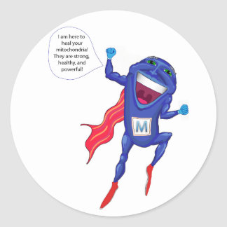 Mitochondria Man Stickers