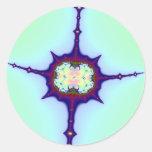 Mitosis Fractal Classic Round Sticker