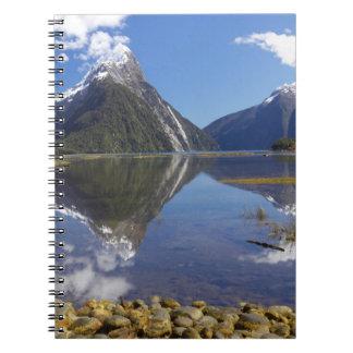 Mitre Peak, Milford Sound, Fiordland National Notebook