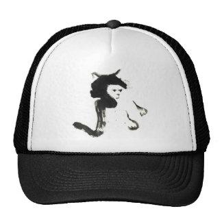 Mitss the Cat Sumi-e Trucker Hats