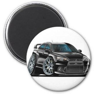 Mitsubishi Evo Black Car 6 Cm Round Magnet