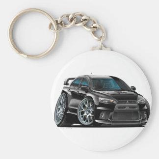 Mitsubishi Evo Black Car Basic Round Button Key Ring