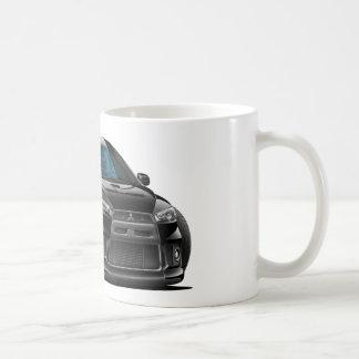 Mitsubishi Evo Black Car Basic White Mug