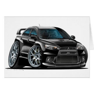 Mitsubishi Evo Black Car Card