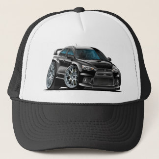 Mitsubishi Evo Black Car Trucker Hat