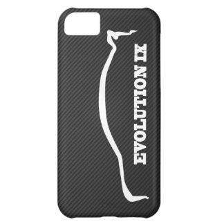 Mitsubishi Evo IX White Silhouette & Faux Carbon iPhone 5C Case