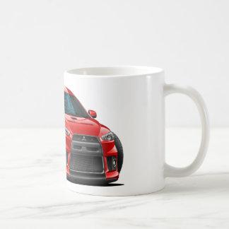 Mitsubishi Evo Red Car Basic White Mug